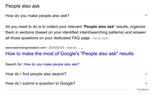 People Also Ask