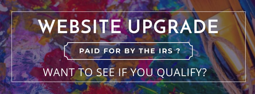 IRS tax credit program for website upgrade